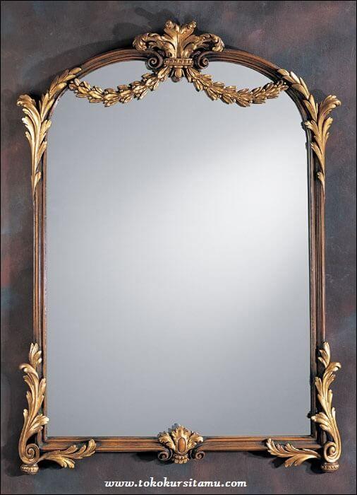 Pigura Cermin Ukir Emas PGR-007