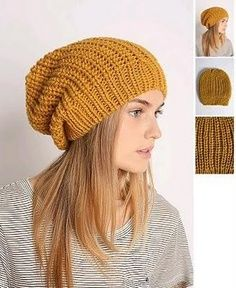 slouchy beanie free knitting patterns - Google Search