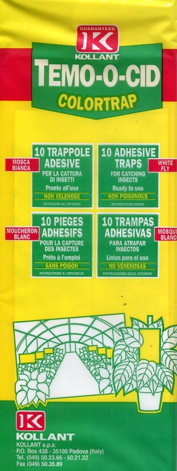 KOLLANT TEMOOCID COLORTRAP MOSCA BIANCA PZ. 10 http://www.decariashop.it/insetticidi/8607-kollant-temoocid-colortrap-mosca-bianca-pz-10.html