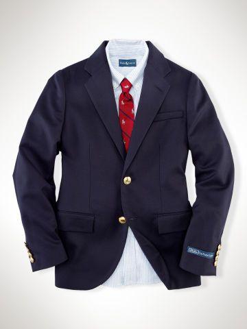 Wool Brass-Button Blazer - Boys 2-7 Suits & Sport Coats - RalphLauren.com