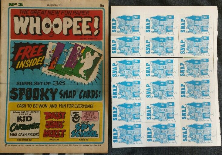 Whoopee! Comic No. 3 with free 'Spooky Snap Cards' - 23rd March 1974