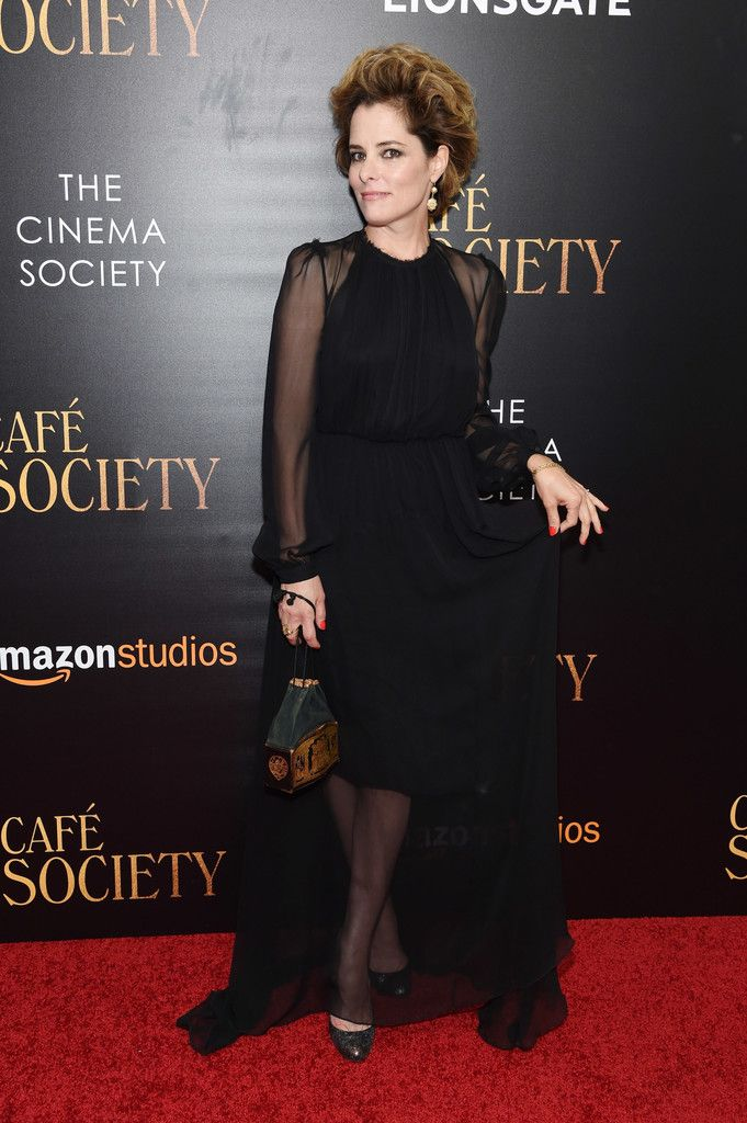 Parker Posey Evening Dress - Parker Posey went for classic glamour in a black sheer-overlay gown by Gary Graham at the New York premiere of 'Cafe Society.'