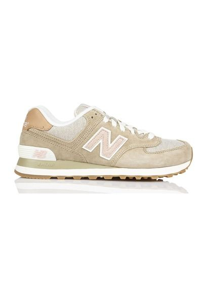 New Balance WL574 en cuir Beige by NEW BALANCE