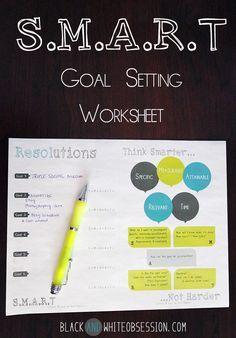 Freebie S.M.A.R.T Goal Setting Worksheet | www.blackandwhite...