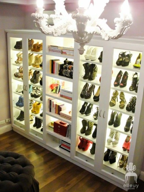 i want to light my shoe shelves!