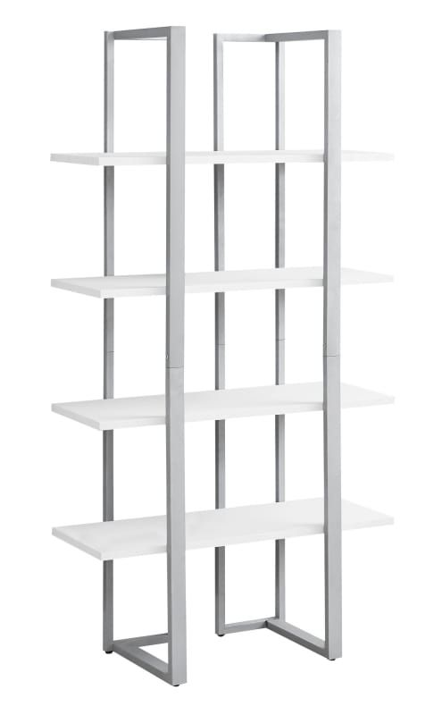 Monarch Specialties I 7238 Metal Bookcase Etagere Bookcase