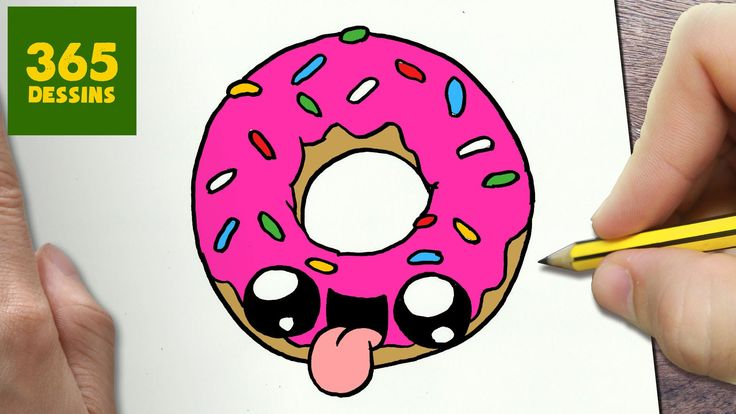 COMMENT DESSINER DONUT KAWAII ÉTAPE PAR ÉTAPE – Dessins kawaii ...