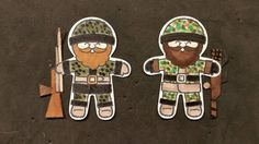 Stampin' Up! Cookie Cutter 'soldiers' or for hunters