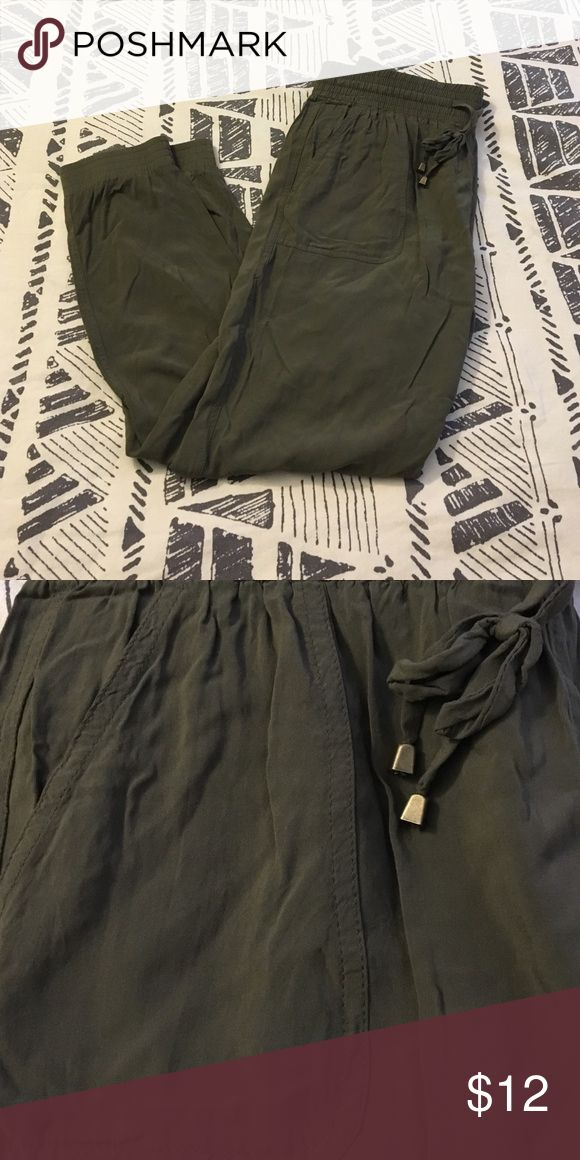 Army Green Joggers These lightweight, army green joggers, are great for anyone trying to amp up their fashion game! They're comfy, light, and go with nearly anything. Be Cool Pants Track Pants & Joggers