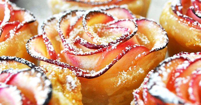 На самом деле эти розы – восхитительный и нежный яблочный десерт. Отличное летнее угощение. И приготовить его проще простого:
