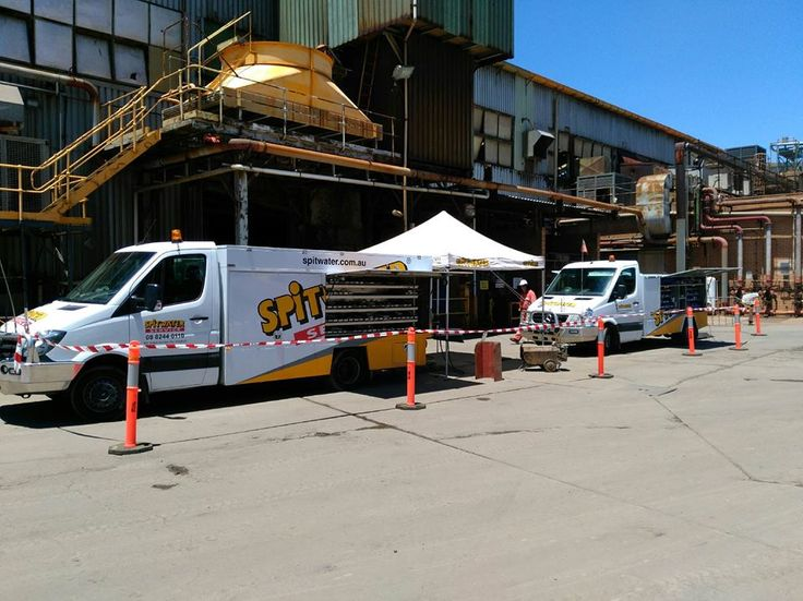 Spitwater technicians on site, servicing one of the large mining companies. #Spitwater #ThatsWhatItDoes