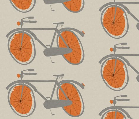 My Bicycle Fabric On Spoonflower Custom Fabric