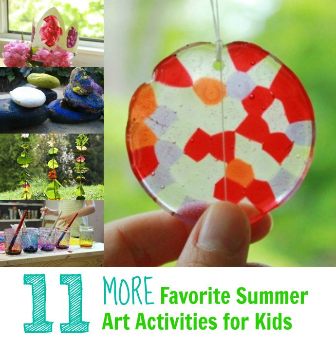 11 MORE Favorite Summer Art Activities for Kids -- Fun ideas to get your family through the rest of the summer!