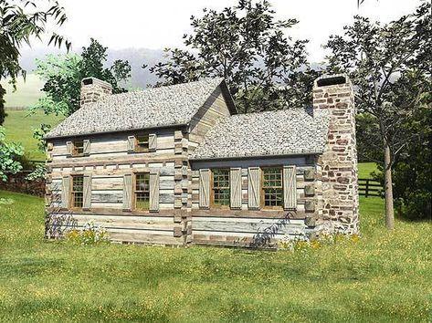 Plan 13330WW: Cozy Log Cabin