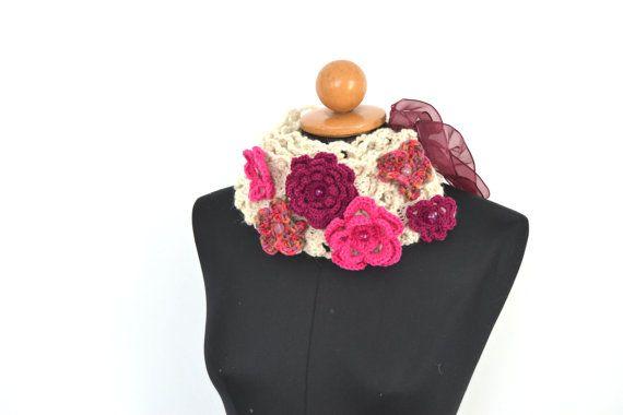 Romantica sciarpa con applicazioni floreali elegante di VereV