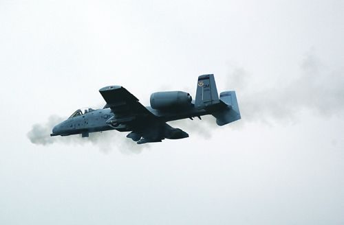 "A-10 Thunderbolt II (""Warthog"") fighter"
