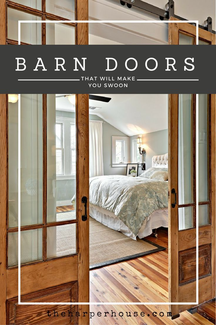 lots of great ideas in this post featuring the best, most unique, sliding barn doors on the internet! | http://www.theharperhouse.com