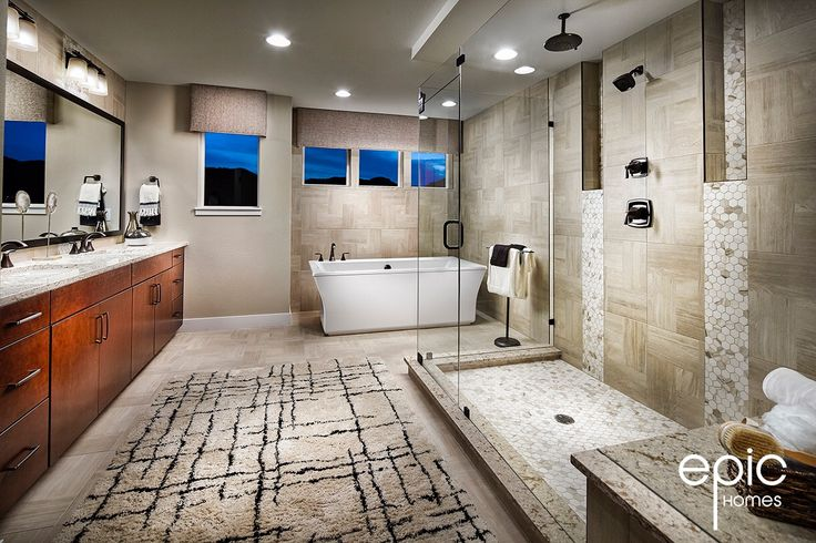 Summit Model Master Bathroom - 3498 Sq ft Model - Epic Homes, Leyden Rock, Arvada Colorado