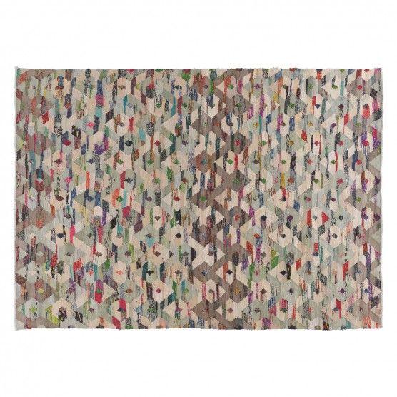 TRIGAS Large multi-coloured flat weave rug 170 x 240cm