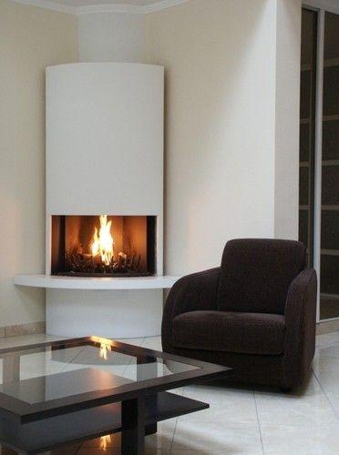 chemin e d 39 angle moderne recherche google cheminee. Black Bedroom Furniture Sets. Home Design Ideas