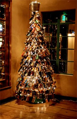 Percy Street Barbecue's Beer Can Christmas Tree (Photo by Drea Rane courtesy Percy Street)