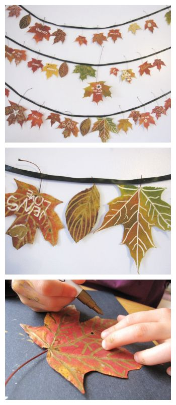 This thankfulness garland is of our favorite Autumn crafts and one that our family makes year after year! Do you have favorite autumn leaf craft?