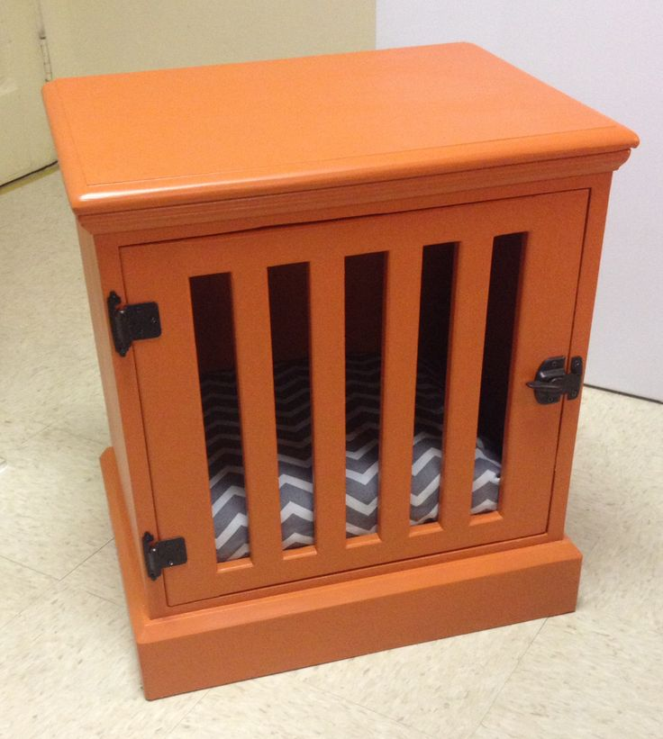 diy dog crate nightstand woodworking projects plans
