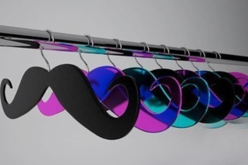 mustache clothes hangers; winning.