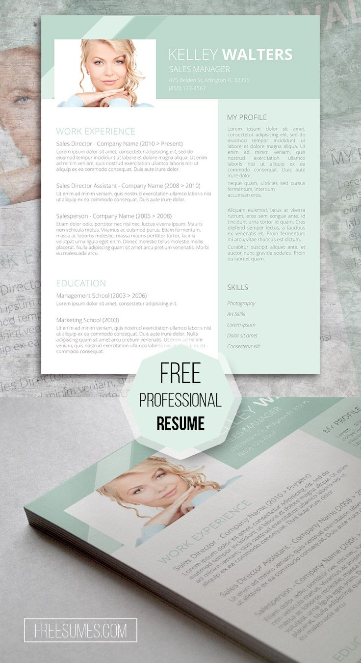65 best free resume templates for word images on pinterest