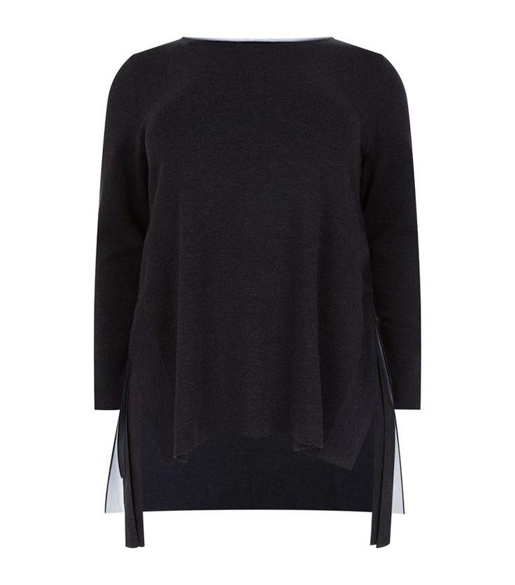MARINA RINALDI Side Split Sweater. #marinarinaldi #cloth #