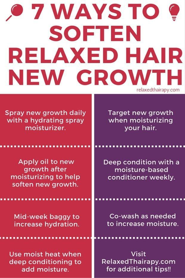 Looking to increase moisture for transitioning hair and relaxedhair?Here are 7 Ways to Soften New Growth and Hydrate Hair! http://relaxedthairapy.com