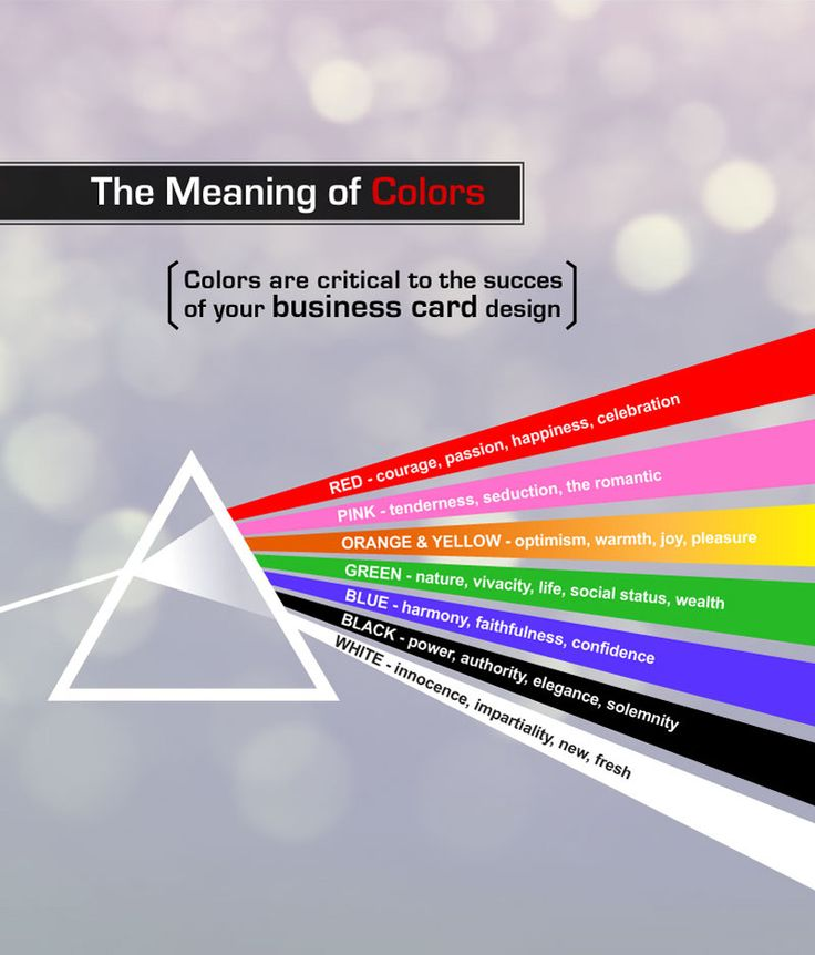 31 best business card networking tips images on pinterest the meaning of colors meaning of colorsbusiness cardslipsense reheart Image collections