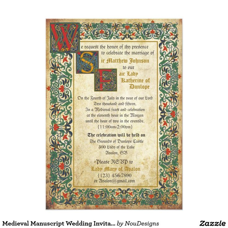Medieval Wedding Invitations: 28 Best Medieval Wedding Invitations Images On Pinterest