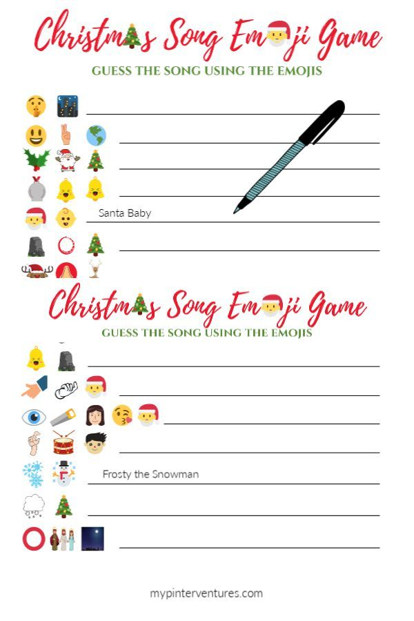 Christmas Song Emoji Game Christmas Song Games Emoji Christmas Free Christmas Songs