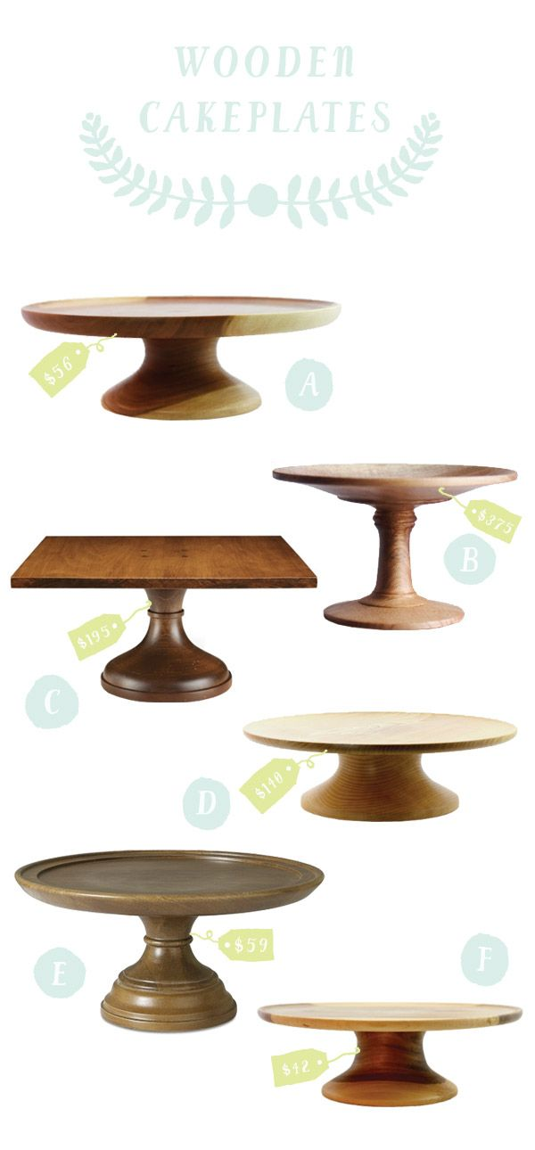 Wooden Cake Stands - for making the most of cakes, and also love serving cheese from cakeplates like these