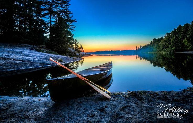 Twilight on Grundy Lake by Trevor Pottelberg on 500px