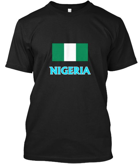 Nigeria Flag Classic Blue Design Black T-Shirt Front - This is the perfect gift for someone who loves Nigerien. Thank you for visiting my page (Related terms: I Heart Nigeria,Nigeria,Nigerien,Nigeria Travel,I Love My Country,Nigeria Flag, Nigeria Map,Nigeria  #Nigerien, #Nigerienshirts...)