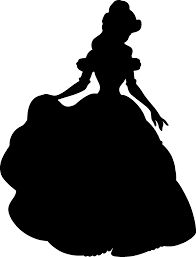 Image result for beauty and the beast silhouette