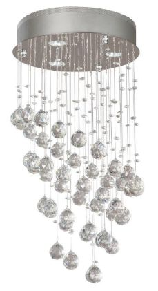 Consumers should immediately stop using the recalled chandeliers and contact Lumicentro Internacional S.A. for a free upgrade kit which includes 5 watt LED bulbs, suction cup, upgraded installation manual and new warning labels. The new labels identify that the fixture is only rated for LED bulbs with a maximum of 6.5 allowable wattage.