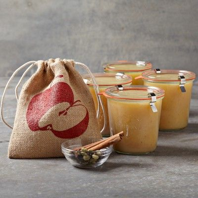 Applesauce Kit #williamssonoma ~ you get 6 jars, which is about what you pay just for the jars, unless you can find them for less somewhere else.