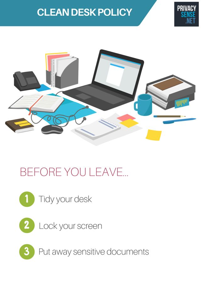 Clean Desk Policy Poster A Free Poster To Help Enforce A