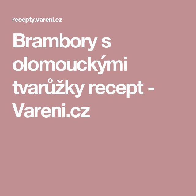 Brambory s olomouckými tvarůžky recept - Vareni.cz