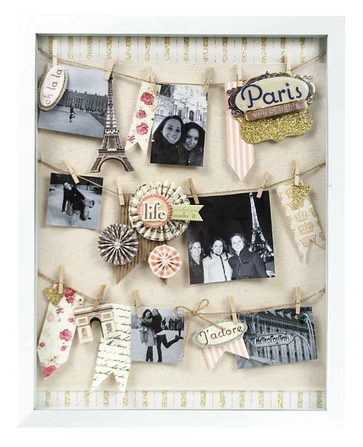 Parisian Getaway Shadow Box Papercrafting Craft Shadow