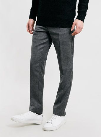 Selected Homme Grey Slim Fit Trousers