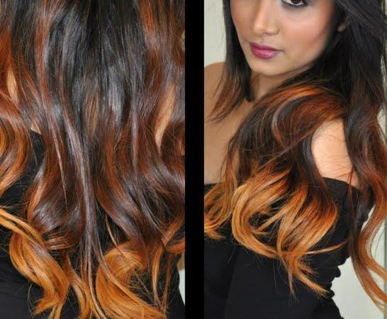 ombre hair acajou - Coloration Acajou Cuivr