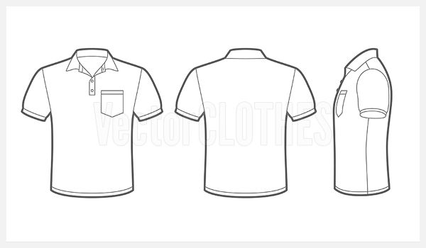 Image for Imgs For Pocket T Shirt Template Vector   T ...