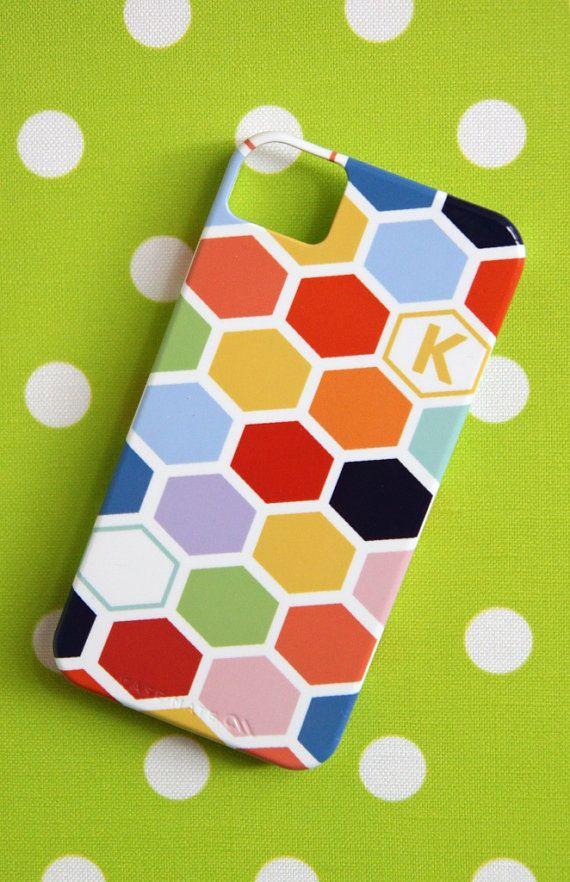 Personalized iPhone 5 case  Hexagon by PencilShavingsStudio, $39.99