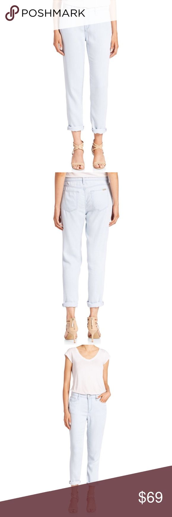 [NWT] Joe's Jeans Billie Boyfriend Ankle Slim Jean Cute ankle jeans with boyfriend-style rolled cuffs Soft (but not stretchy) and lightweight jeans Button-fly with zip closure 5-pocket styling Tencel Joe's Jeans Jeans Boyfriend