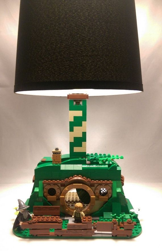 Bag End Hobbit Hole LEGO lamp with Gandalf and by brickablocks