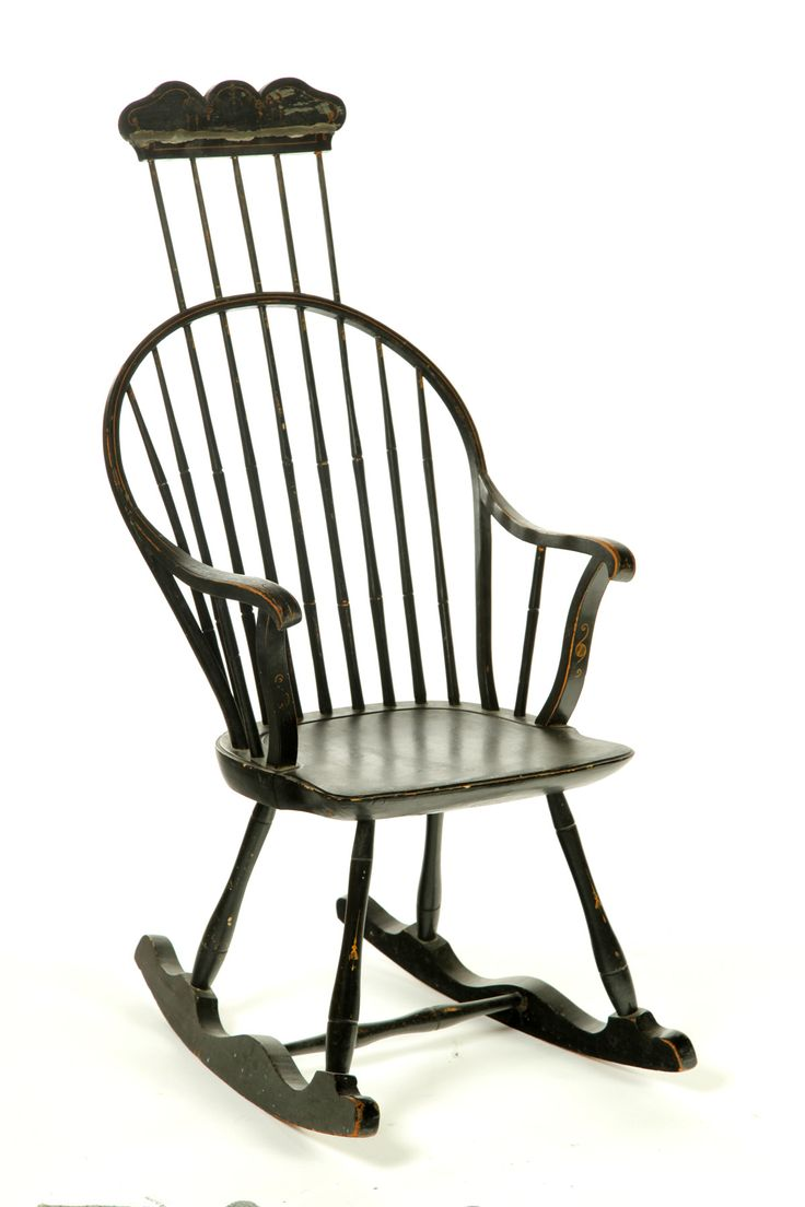 Rare Comb Back Bowback Windsor Armchair Boston 1795 1815 Mixed Woods Beaded Bow Shaped